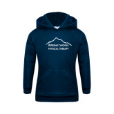 Youth Navy Fleece Hoodie-Physical Therapy