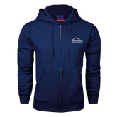 Navy Fleece Full Zip Hoodie-Physical Therapy