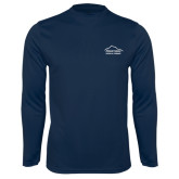 Performance Navy Longsleeve Shirt-Physical Therapy