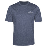 Performance Navy Heather Contender Tee-Physical Therapy
