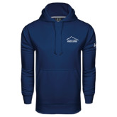 Under Armour Navy Performance Sweats Team Hoodie-Fitness Center