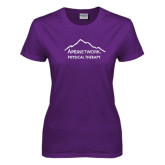 Ladies Purple T Shirt-Physical Therapy