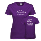 Ladies Purple T-Shirt-Physical Therapy