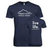 Next Level Vintage Navy Tri Blend Crew-Physical Therapy