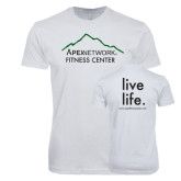 Next Level SoftStyle White T Shirt-Fitness Center