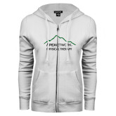 ENZA Ladies White Fleece Full Zip Hoodie-Physical Therapy