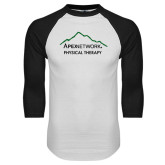 White/Black Raglan Baseball T-Shirt-Physical Therapy
