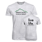 Next Level Heather White Tri Blend Crew-Physical Therapy