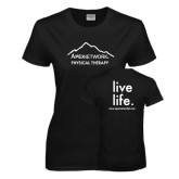 Ladies Black T Shirt-Physical Therapy