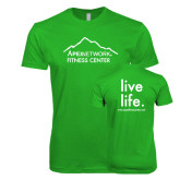 Next Level SoftStyle Kelly Green T Shirt-Fitness Center