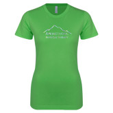 Next Level Ladies SoftStyle Junior Fitted Kelly Green Tee-Physical Therapy Foil