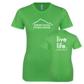 Next Level Ladies SoftStyle Junior Fitted Kelly Green Tee-Fitness Center