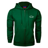 Dark Green Fleece Full Zip Hoodie-Physical Therapy