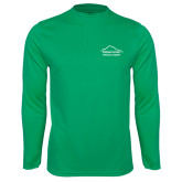 Performance Kelly Green Longsleeve Shirt-Physical Therapy