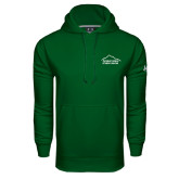 Under Armour Dark Green Performance Sweats Team Hoodie-Fitness Center