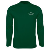 Performance Dark Green Longsleeve Shirt-Physical Therapy