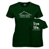 Ladies Dark Green T Shirt-Physical Therapy