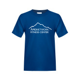 Youth Royal T Shirt-Fitness Center