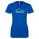 Next Level Ladies SoftStyle Junior Fitted Royal Tee-Fitness Center