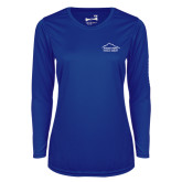 Ladies Syntrel Performance Royal Longsleeve Shirt-Physical Therapy