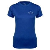 Ladies Syntrel Performance Royal Tee-Physical Therapy