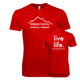 Next Level SoftStyle Red T Shirt-Physical Therapy