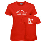 Ladies Red T Shirt-Physical Therapy
