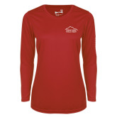 Ladies Syntrel Performance Red Longsleeve Shirt-Physical Therapy