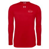 Under Armour Red Long Sleeve Tech Tee-Fitness Center