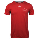 Adidas Climalite Red Ultimate Performance Tee-Fitness Center