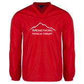 V Neck Red Raglan Windshirt-Physical Therapy