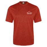 Performance Red Heather Contender Tee-Fitness Center