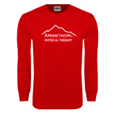 Red Long Sleeve T Shirt-Physical Therapy