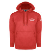 Under Armour Red Performance Sweats Team Hoodie-Fitness Center