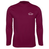 Performance Maroon Longsleeve Shirt-Physical Therapy
