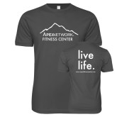 Next Level SoftStyle Charcoal T Shirt-Fitness Center