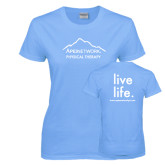 Ladies Sky Blue T Shirt-Physical Therapy