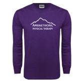 Purple Long Sleeve T Shirt-Physical Therapy
