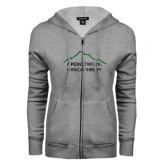 ENZA Ladies Grey Fleece Full Zip Hoodie-Physical Therapy