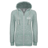ENZA Ladies Seaglass Marled Full Zip Hoodie-Physical Therapy