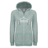 ENZA Ladies Seaglass Marled Full Zip Hoodie-Fitness Center