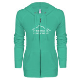 ENZA Ladies Seaglass Light Weight Fleece Full Zip Hoodie-Physical Therapy