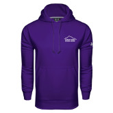 Under Armour Purple Performance Sweats Team Hoodie-Fitness Center
