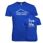Next Level SoftStyle Royal T Shirt-Fitness Center