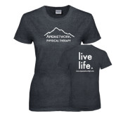 Ladies Dark Heather T Shirt-Physical Therapy