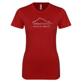 Next Level Ladies SoftStyle Junior Fitted Cardinal Tee-Physical Therapy Foil