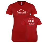 Next Level Ladies SoftStyle Junior Fitted Cardinal Tee-Physical Therapy