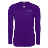 Under Armour Purple Long Sleeve Tech Tee-Physical Therapy