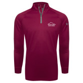 Under Armour Maroon Tech 1/4 Zip Performance Shirt-Physical Therapy