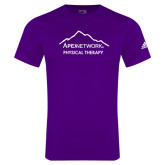 Adidas Purple Logo T Shirt-Physical Therapy
